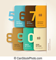 Modern infographics number options