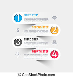 Modern infographics template - Fully editable vector. Can be...