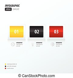 Modern infographics yellow, black, red