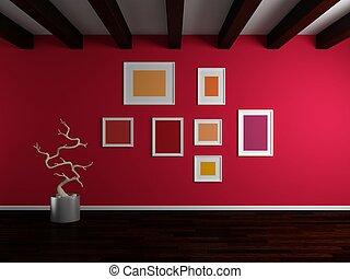modern, inneneinrichtung, composition.