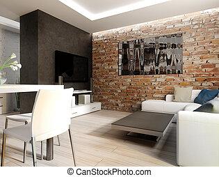 inneneinrichtung wohnzimmer 3d wohnzimmer render lcd inneneinrichtung sessel wei es 3d. Black Bedroom Furniture Sets. Home Design Ideas