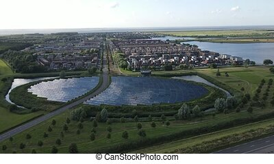 Modern innovative residential area in Almere , The Netherlands, Flevoland