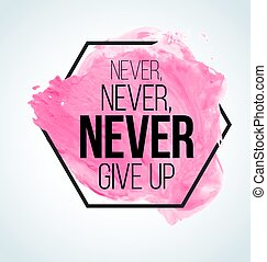 Modern inspirational quote on watercolor background