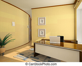 modern interior design of cabinet hotel room