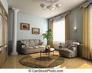 modern interior - modern hotel interior design in classic...