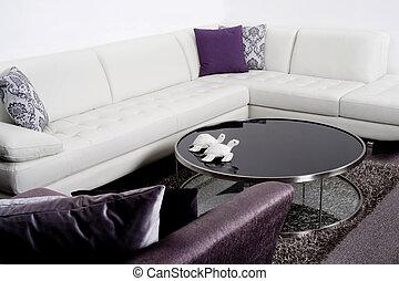 Modern interior of a living room