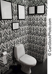 modern interior of a toilet