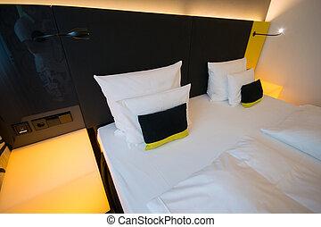 Modern interior of the bedroom