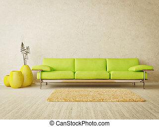 room - modern interior room with nice furniture inside