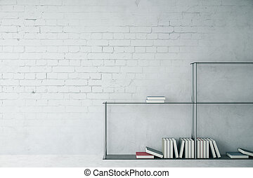 Modern interior with blank wall
