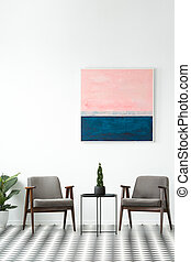 Modern interior with painting