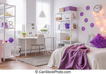 Modern interior with purple color - Picture of modern...