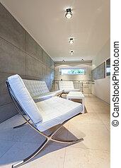 Modern interior with white furniture