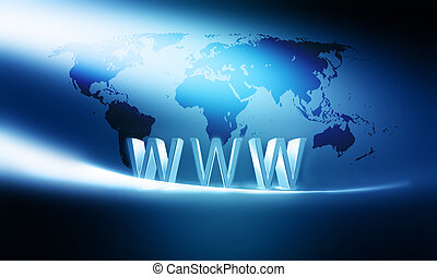 internet concept - modern internet concept background