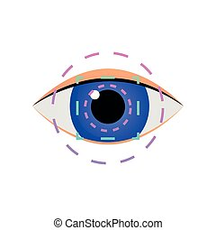 Modern iris scan eye security system for business office