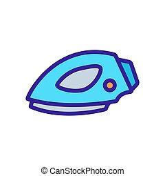 Modern iron icon vector. Thin line sign. Isolated contour symbol illustration
