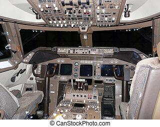 modern jet flightdeck - modern empty jet flightdeck