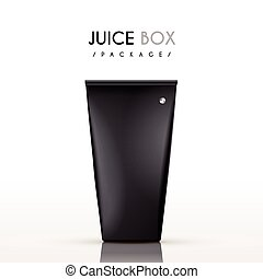 modern juice box package isolated on white background