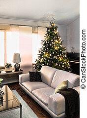 modern, karácsony