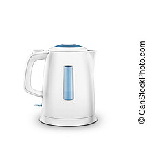 modern kettle, isolated with clipping path
