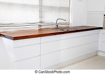 Modern kitchen - A modern white kitchen.