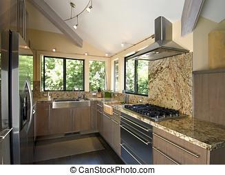 modern kitchen - beautiful moden kitchen, track...