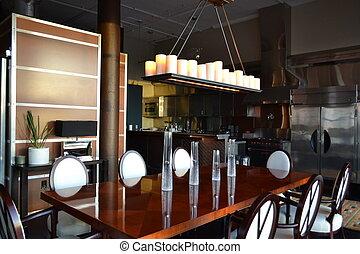 Modern Kitchen in Luxury Loft