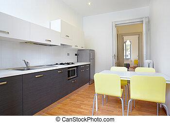 Modern kitchen in new apartment