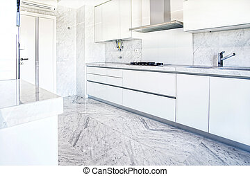 modern kitchen interior white