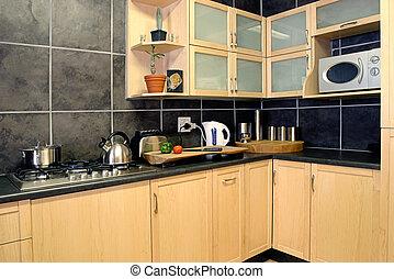 Modern Kitchen - Kitchen witn chopping board in front