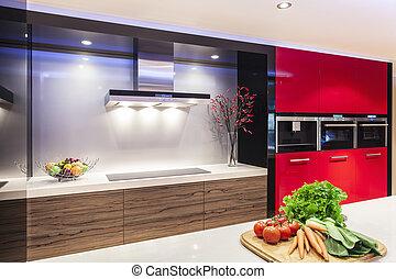 Modern kitchen - Luxurious new kitchen with modern ...
