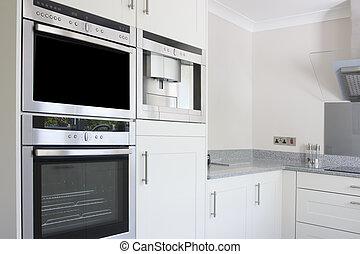 modern kitchen stainless steel oven