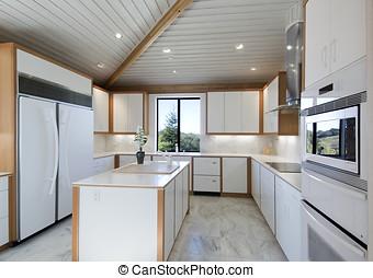 modern kitchen - ultra modern white kitchen,all the latest...