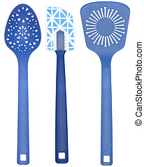 Modern Kitchen Utensil Collection Border or Background...