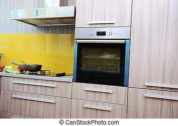 Modern kitchen with nobody in