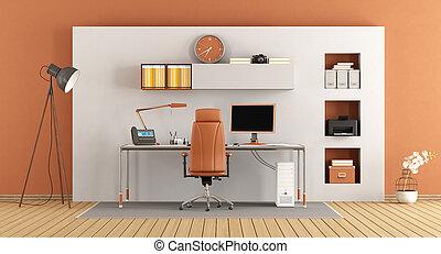 modern, kleines büro