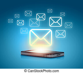 modern, kommunikation, technologie