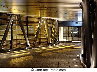 modern, korridor