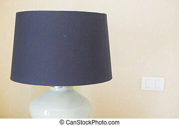 Modern lamp in bedroom