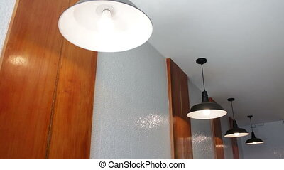 Modern lamp light design decoration, stock footage