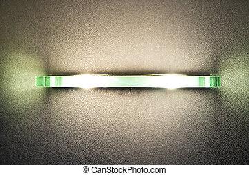 Modern lamp on wall