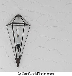 modern lamp on wall
