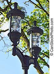 Modern lantern in the Park