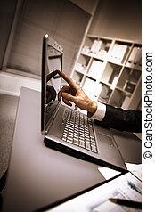 modern laptop in an office