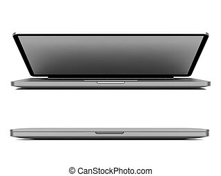 Modern Laptop Isolated on White.