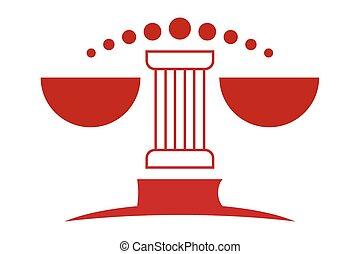Modern Law Logo Symbol