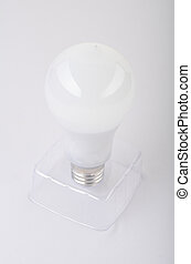 Modern LED lamp ECO energy concept, close up