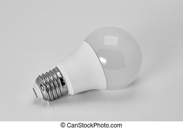 Modern LED spotlight close-up isolate on a white background.