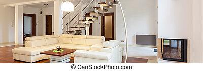 modern leven, kamer, interieur