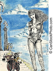 Illustration naked woman - I am author of this image